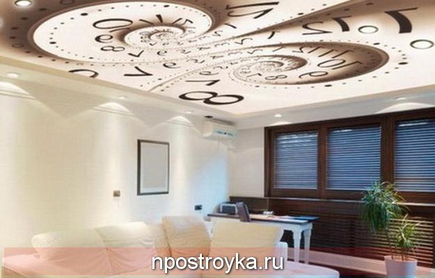 Натяжные потолки абстракция