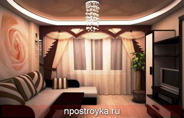 Дизайн двухуровневых натяжных потолков для зала