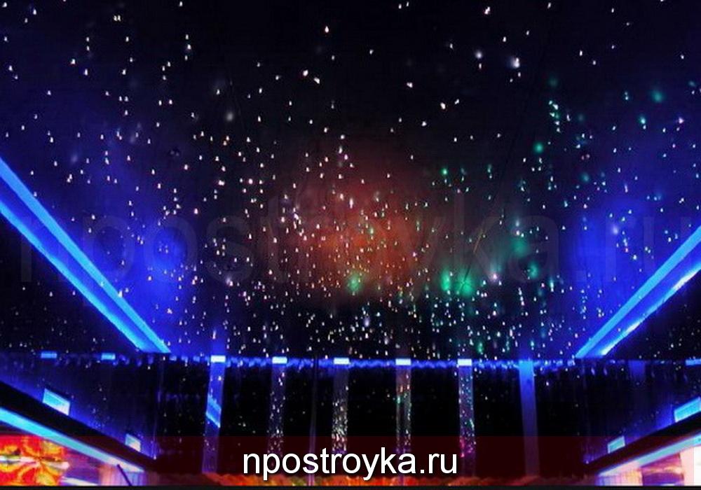 Фото натяжные потолки звездное небо